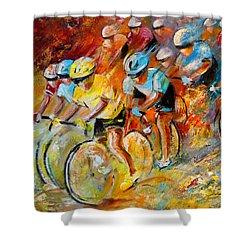 Winning The Tour De France Shower Curtain
