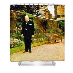 Winston Churchill, 1943 Shower Curtain