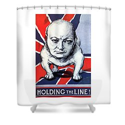Winston Churchill Holding The Line Shower Curtain by War Is Hell Store