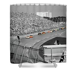 Winston Cup Racing In Daytona 1995 Shower Curtain by John Black