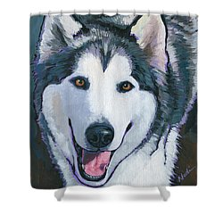 Winston Shower Curtain by Nadi Spencer