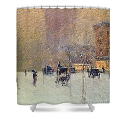 Winter Afternoon In New York Shower Curtain by Childe Hassam
