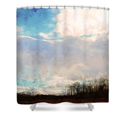 Winter Afternoon Sky Shower Curtain