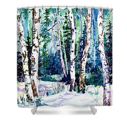 Winter Aspen Shower Curtain