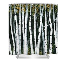 Winter Aspen 3 Shower Curtain by Michael Swanson