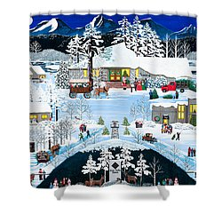 Winter At Black Butte Shower Curtain