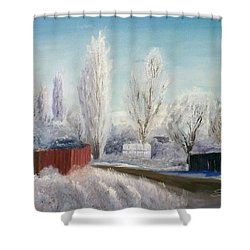 Winter At Bonanza Shower Curtain by Sherril Porter