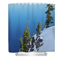 Winter At Crater Lake Shower Curtain