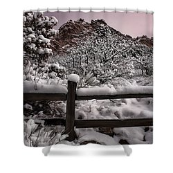 Shower Curtain featuring the photograph Winter At Garden Of The Gods by Ellen Heaverlo