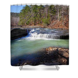 Shower Curtain featuring the photograph Winter At Haw Creek Falls by Michael Dougherty
