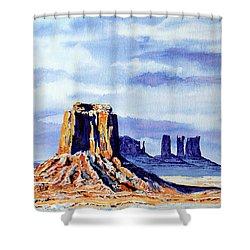 Winter At Merrick Butte Shower Curtain