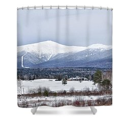 Winter At Mount Washington Shower Curtain by Tricia Marchlik