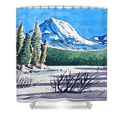 Winter At Mt. Lassen Shower Curtain