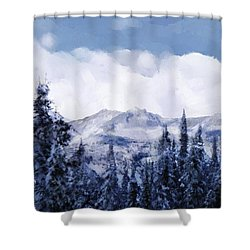 Winter At Revelstoke Shower Curtain