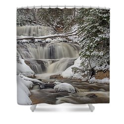 Winter At Sable Falls Shower Curtain