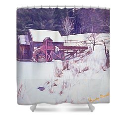 Winter At The Gristmill. Shower Curtain