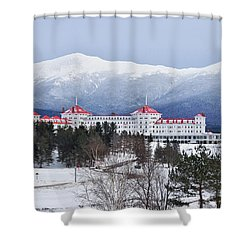 Winter At The Mt Washington Hotel Shower Curtain by Tricia Marchlik