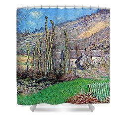 Winter At The Val De Falaise Shower Curtain by Claude Monet