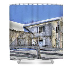 Winter Barn 2 Shower Curtain