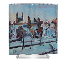 Winter Basilica Our Lady Maastricht Shower Curtain