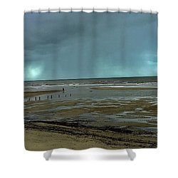 Winter Beach Shower Curtain