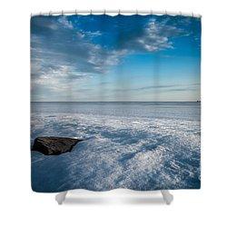 Winter Beach Shower Curtain