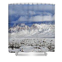 Shower Curtain featuring the photograph Winter Beauties Organ Mountains by Kurt Van Wagner
