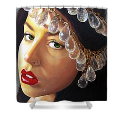 Shower Curtain featuring the painting Winter Beauty by Malinda  Prudhomme