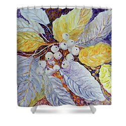 Shower Curtain featuring the painting Winter Berries by Joanne Smoley