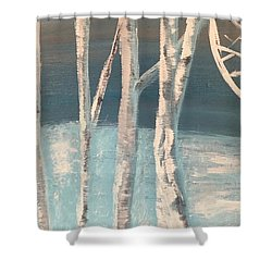 Winter Birches Shower Curtain