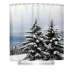 Shower Curtain featuring the photograph Winter Bliss by Will Borden