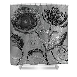 Shower Curtain featuring the digital art Winter Blooms IIi by Robin Maria Pedrero