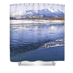 Winter Blues Shower Curtain by Michele Cornelius