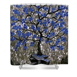 Winter Blues Shower Curtain by Teresa Wing