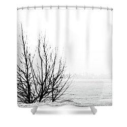 Winter Bones Shower Curtain