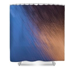 Winter Canyon Blues Shower Curtain