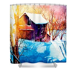 Shower Curtain featuring the painting Winter Color by Hanne Lore Koehler