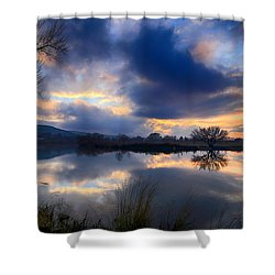 Winter Colors At Sunset Shower Curtain by Lynn Hopwood