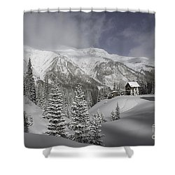 Winter Comes Softly Shower Curtain