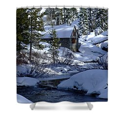 Winter Cottage Shower Curtain