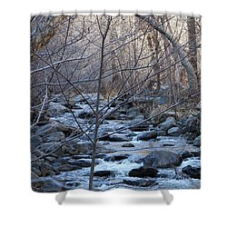 Shower Curtain featuring the photograph Winter Creek - 2 by Christy Pooschke