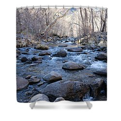 Shower Curtain featuring the photograph Winter Creek - 3 by Christy Pooschke