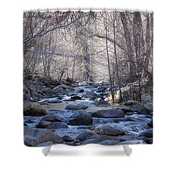 Shower Curtain featuring the photograph Winter Creek - 4 by Christy Pooschke