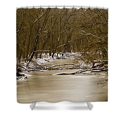 Shower Curtain featuring the photograph Winter Creek by Bonnie Willis
