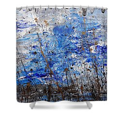 Shower Curtain featuring the painting Winter Crisp by Jacqueline Athmann