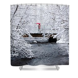 Winter Crossing Shower Curtain by Ron Day