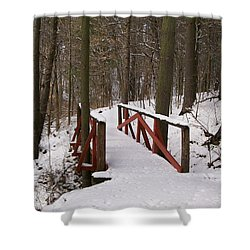 Shower Curtain featuring the photograph Winter Crossing by Sara  Raber