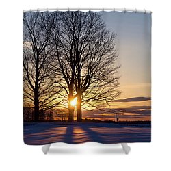 Winter, Crystal Spring Farm, Brunswick, Maine -78592 Shower Curtain