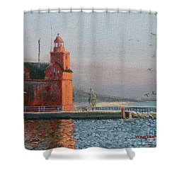 Winter Day At Big Red Shower Curtain