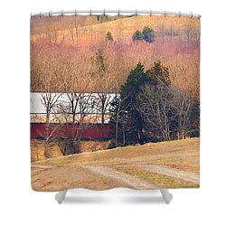 Shower Curtain featuring the photograph Winter Day At The Farm by Debbie Karnes